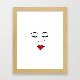 Style Girl - Face - Doodle Art Framed Art Print