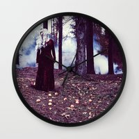 iron maiden Wall Clocks featuring Maiden by Gypsy Moth Sol