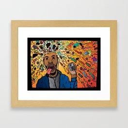 A head banger Framed Art Print