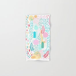 Abstract Nature - Colourful Doodle Pattern 3 Hand & Bath Towel