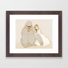 Gorilla and Girl Framed Art Print