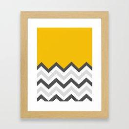 Color Blocked Chevron 17 Framed Art Print
