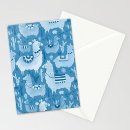 Alpacas and cacti Stationery Cards