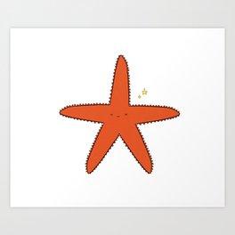 Cute Star Art Print