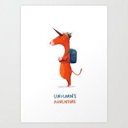 Unicorn's adventure Art Print
