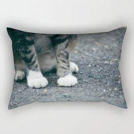 Cat in White Socks Rectangular Pillow