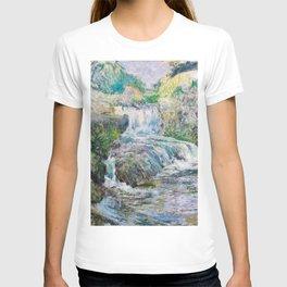 12,000pixel-500dpi - Waterfall - John Henry Twachtman T-shirt