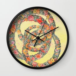 The consolation in a flower Wall Clock