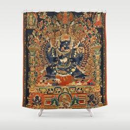Tantric Buddhist Vajrabhairava Deity 2 Shower Curtain