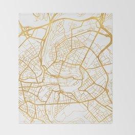 BERN SWITZERLAND CITY STREET MAP ART Throw Blanket