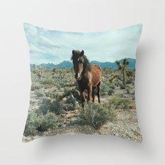 Nevada Desert Horse Throw Pillow