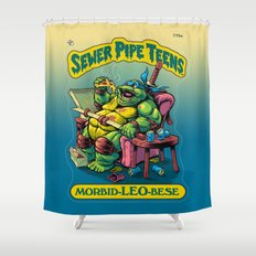 SEWER PIPE TEENS: Morbid-LEO-bese Shower Curtain