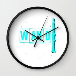 Retro Clarinet Wall Clock