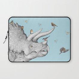 Triceratops and Birdies Laptop Sleeve