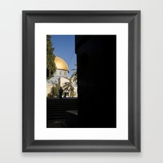 Doorway to the Dome of the Rock Framed Art Print