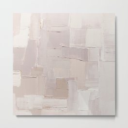 Oyster Pink Mix Abstract Painting Metal Print