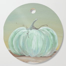 Ready for Fall Cinderella pumpkin Cutting Board