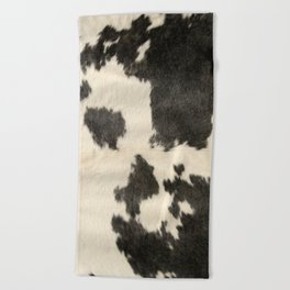 Black & White Cow Hide Beach Towel