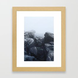 ominous view Framed Art Print