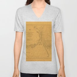 Map of Buffalo 1856 Unisex V-Neck
