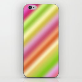 Tutti Fruity Diagonal Striped Pattern iPhone Skin