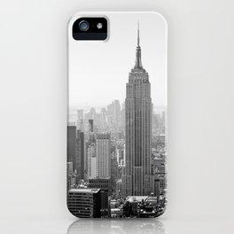 Manhattan - Empire State Building Panorama | B/W iPhone Case