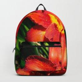 Deep Orange Tiger Lily Backpack