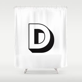 Letter D ... As Easy As ... Shower Curtain