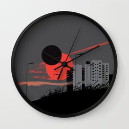 apocalypse city Wall Clock