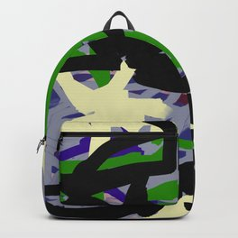 Purple, Green & Gray Abstract Backpack