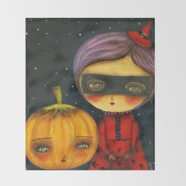 Trick Or Treating Throw Blanket