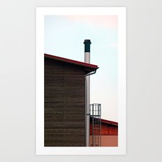 Some boring building with a chimney | architectural photography Art Print