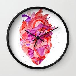 heart Fractal Wall Clock