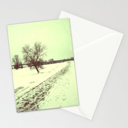 vintage winter Stationery Cards