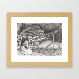 Campfire Stories Tommy Knocker Framed Art Print