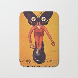 1921 Cirage Creme Papillon Noir Advertisement Poster by Leonetto Cappiello Bath Mat