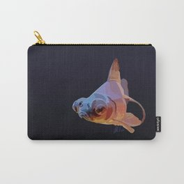 Grumpy Goldfish in Blue and Gold Carry-All Pouch