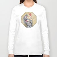 manga Long Sleeve T-shirts featuring Manga 3 by Hector Gomez