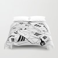 sneakers Duvet Covers featuring Sneakers Illustration by SoulWon Cheung