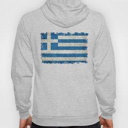 Greek flag in retro grunge Hoody