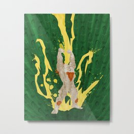 Call Me, Jimmy (Homage to Blanka from Street Fighter) Metal Print