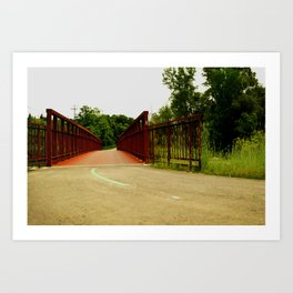 North Don Trail Bridgeway Art Print