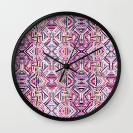 LINEA 040 Abstract Collage Wall Clock