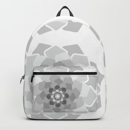 Abstract geometric flower light grey colours Backpack