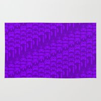 video game Area & Throw Rugs featuring Video Game Controllers - Purple by C.Rhodes Design