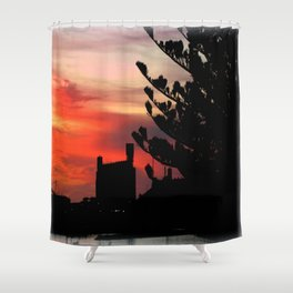 Sunrise at Port of Portland Shower Curtain