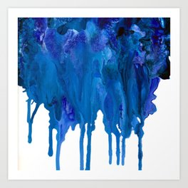SPILLED OCEAN Art Print