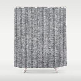 Soft Grey Jersey Knit Pattern Shower Curtain