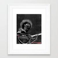 zappa Framed Art Prints featuring Frank Zappa by Katon Aqhari