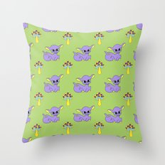 Psychedelic Woodland Lilac Deer Throw Pillow